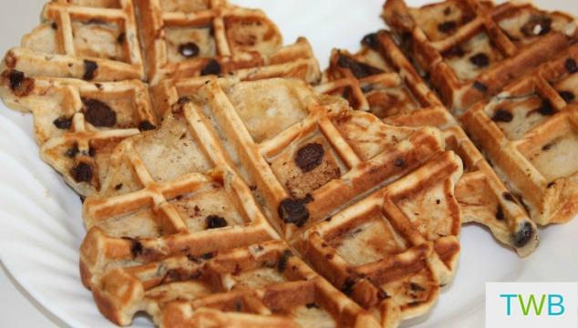 Banana Chocolate Chip Waffles