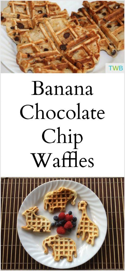 Easy Banana Chocolate Chip Waffles Recipe