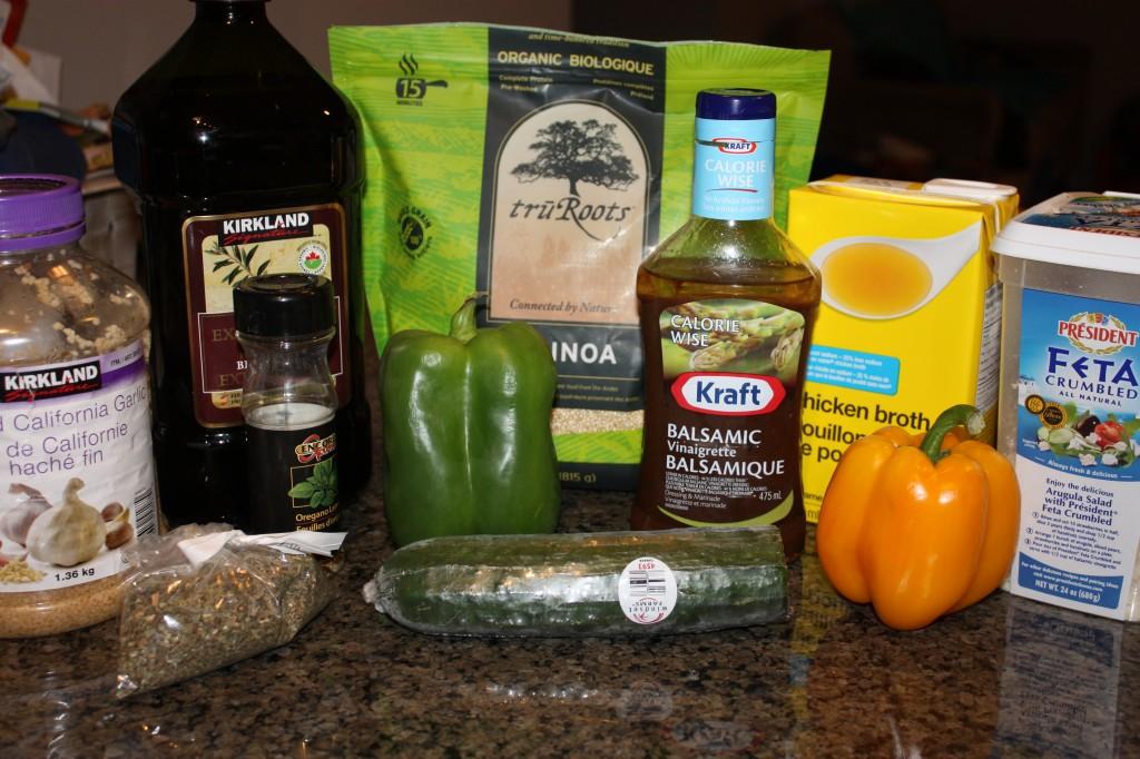 Greek Quinoa ingredients