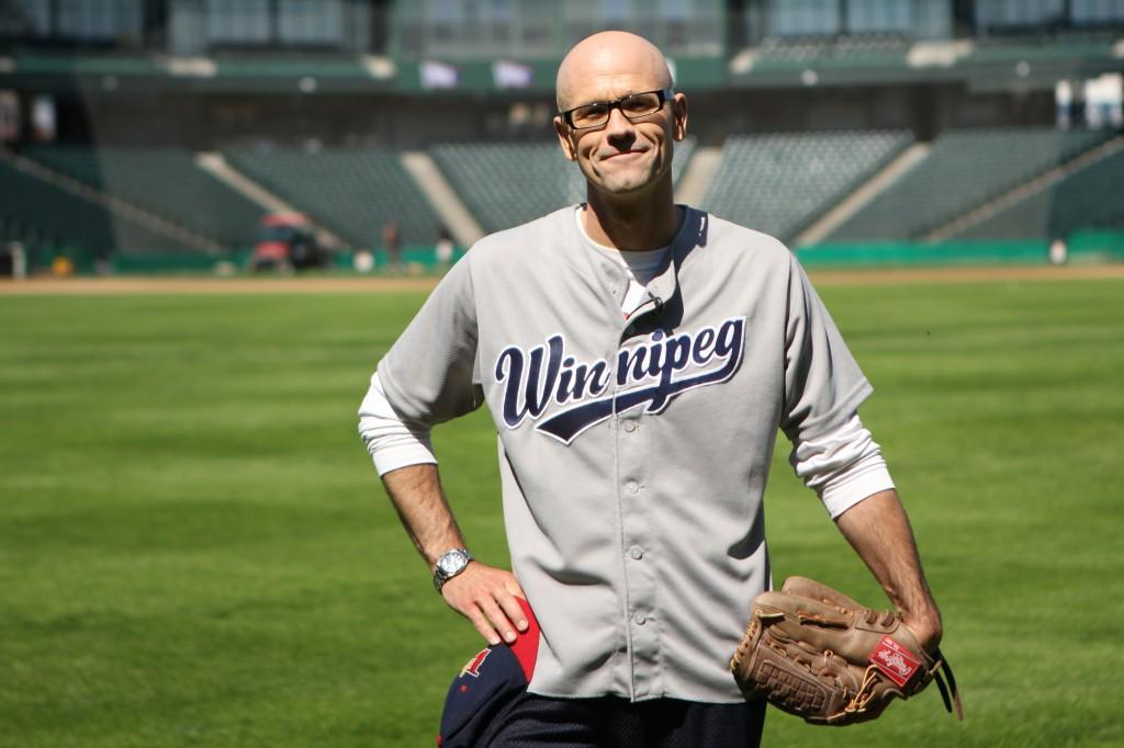 Jeremy playing baseball