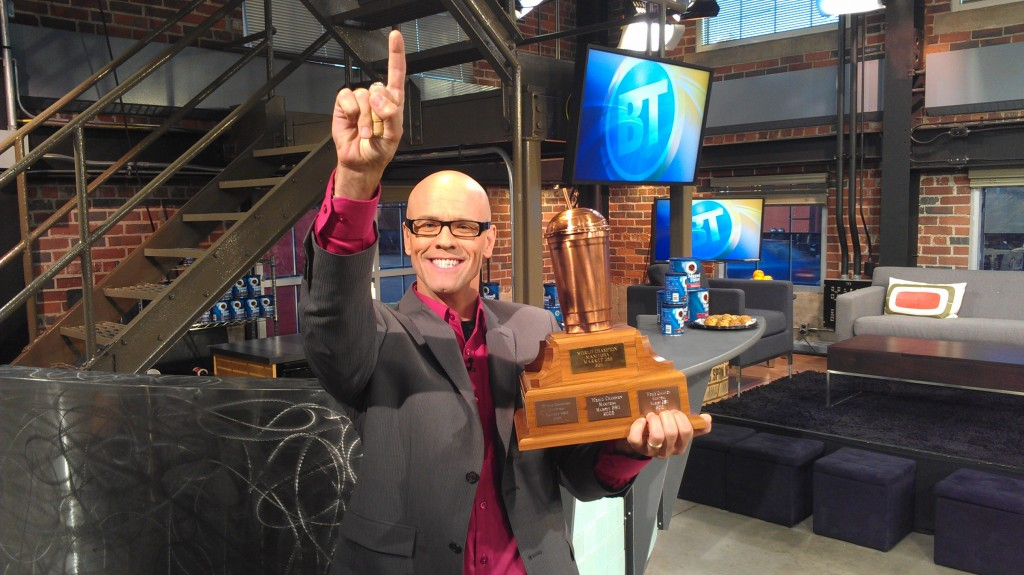 Jeremy with trophy on BT