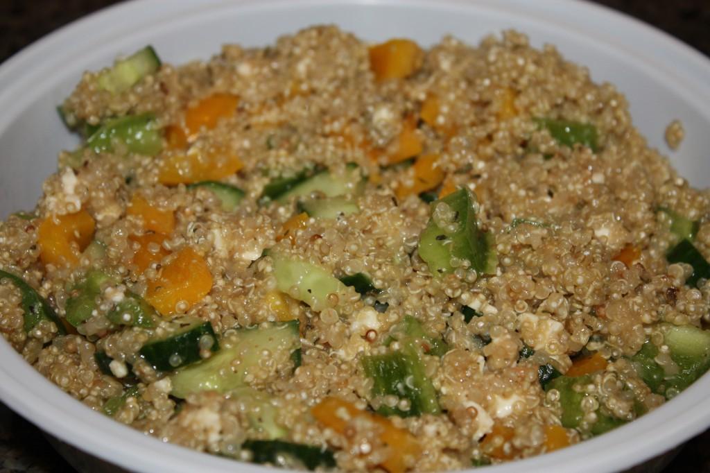 finished greek quinioa salad