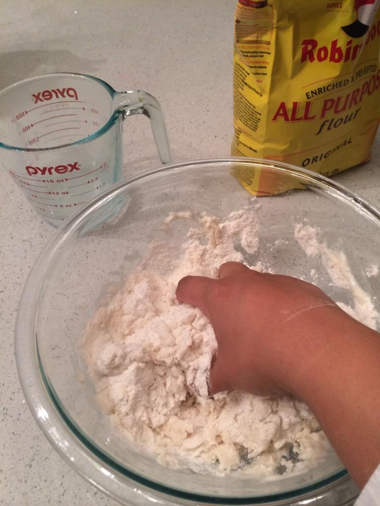 mixing salt dough