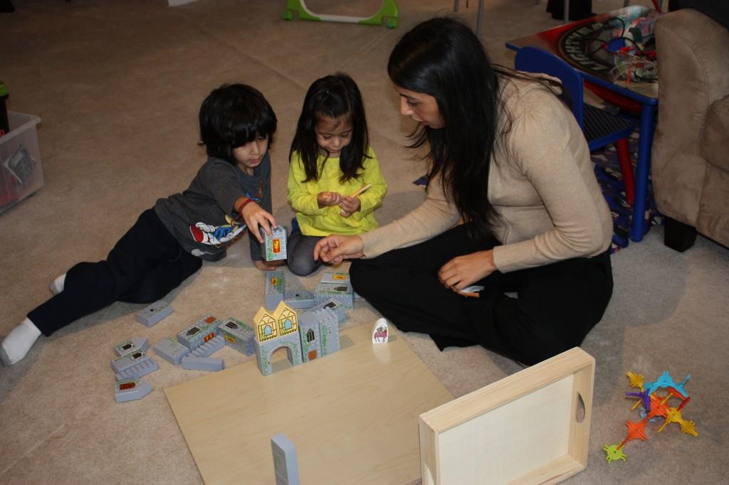 playtime-building a castle