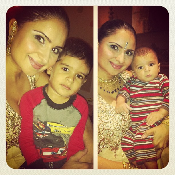 Nira with her kids