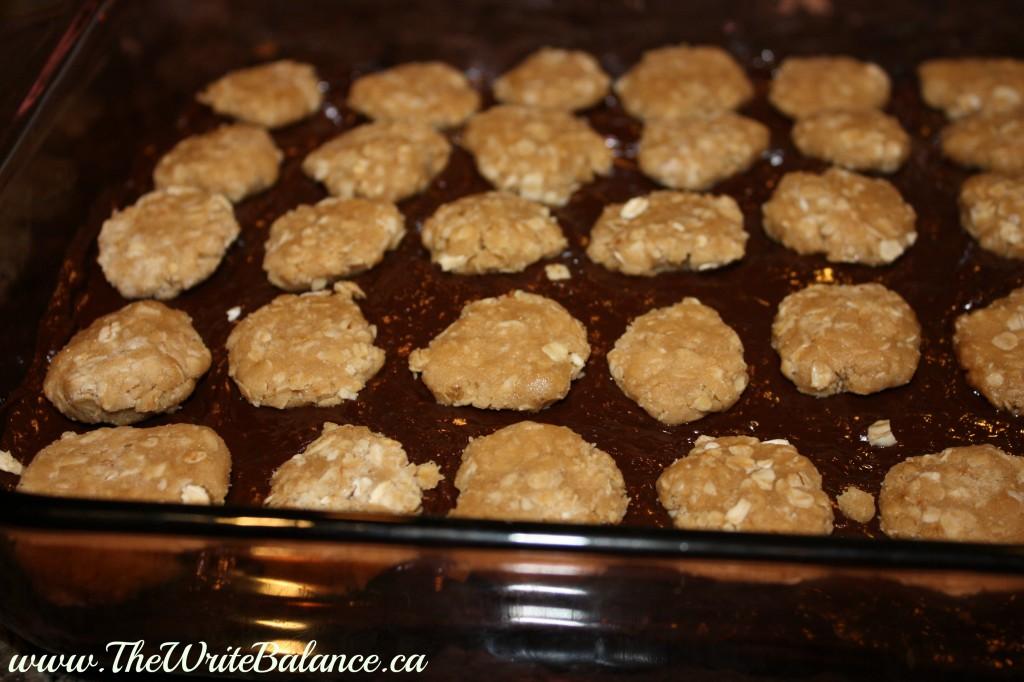 drops of oatmeal mixture