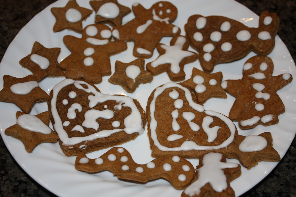 finished gingerbread cookies
