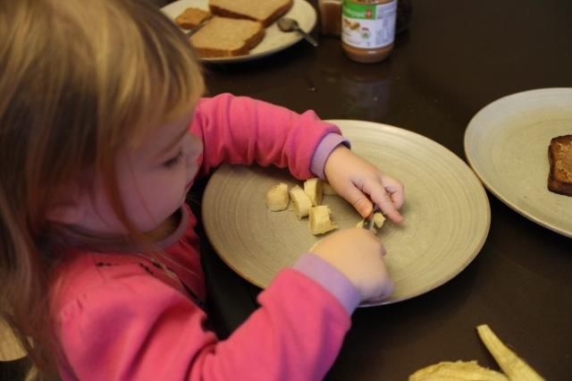 spread peanut butter