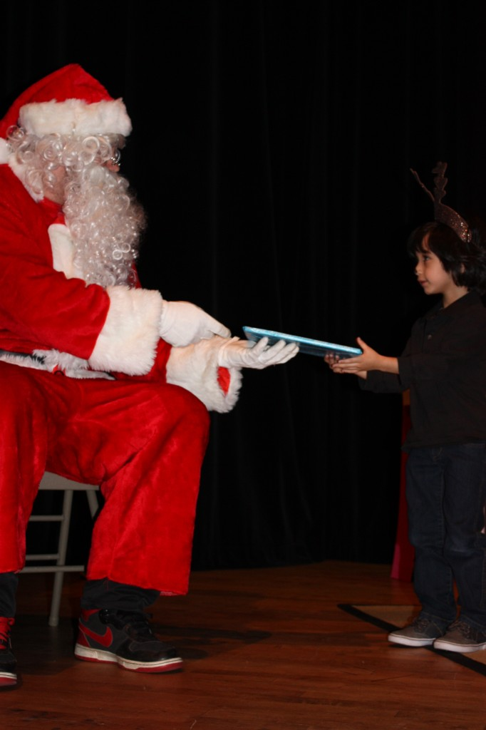 with Santa at Christmas concert