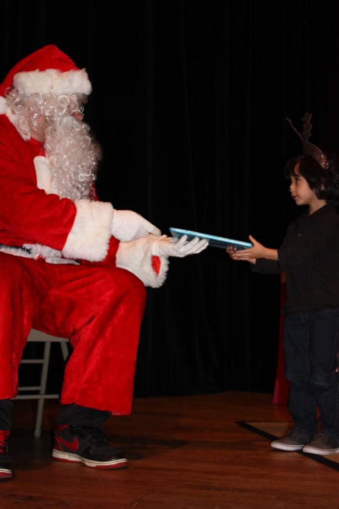 with Santa at Christmas concert