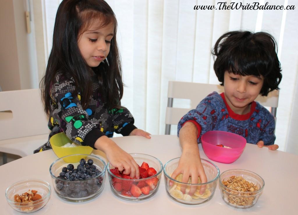 kids breakfast sundae toppings