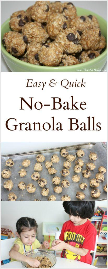 Easy No Bake Granola Balls