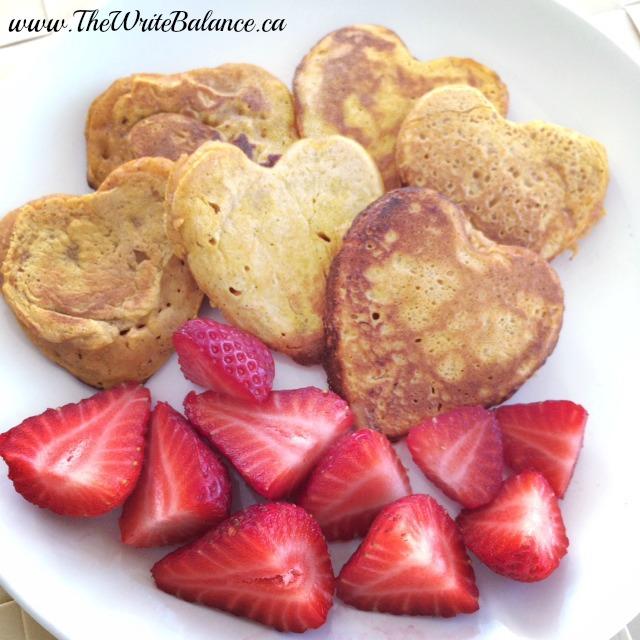 Heart-Shaped Pumpkin Pancakes
