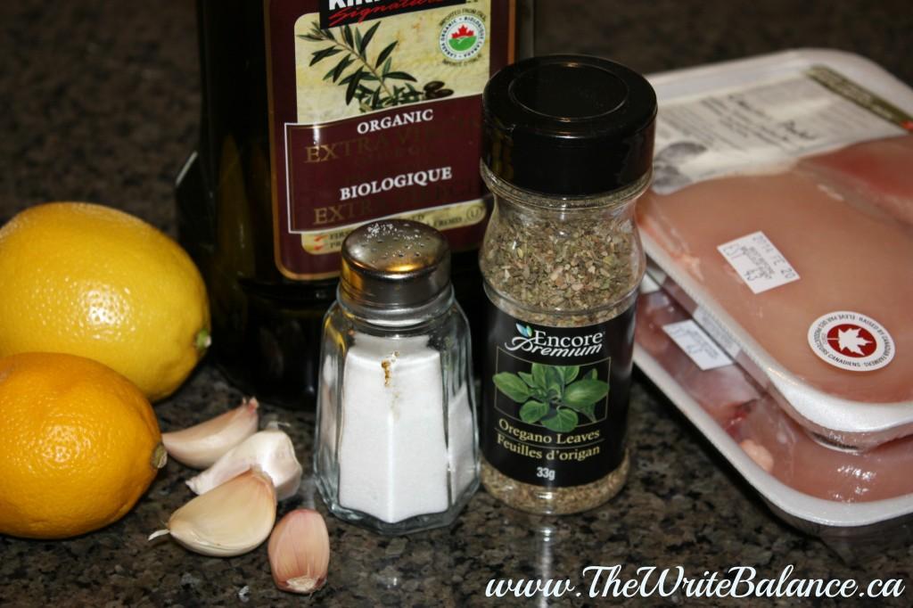 Lemon Garlic Chicken Ingredients