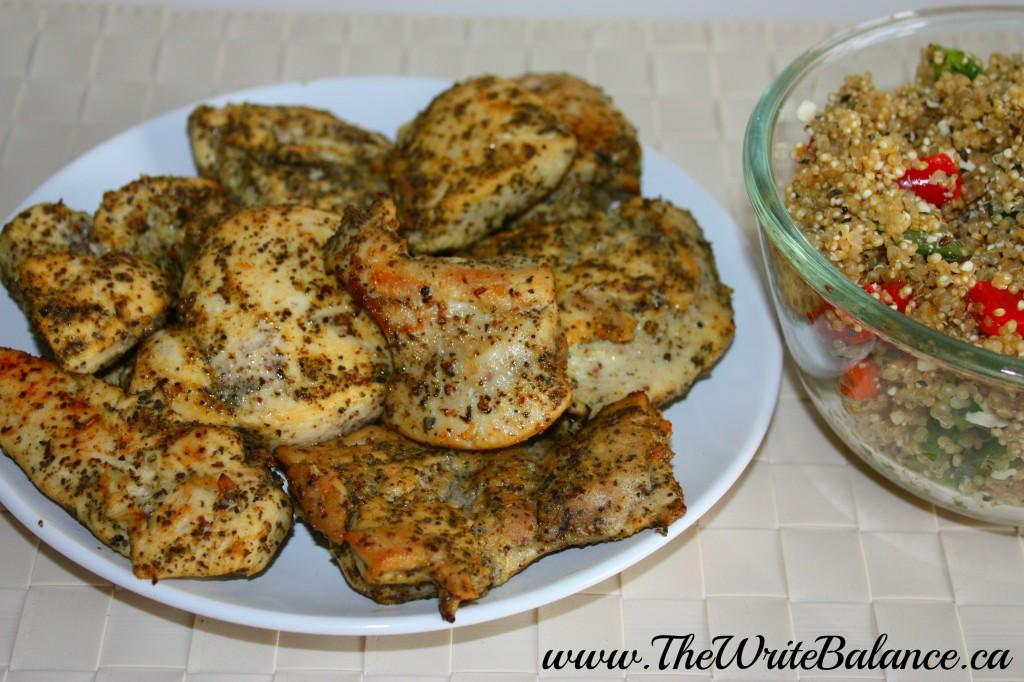 Lemon Garlic Chicken with quinoa
