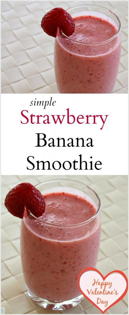 Strawberry Banana Smoothie | Valentine's Day Smoothie