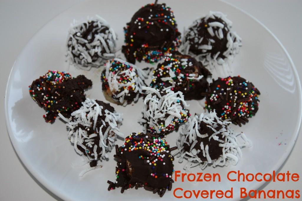 Chocolate covered bananas.