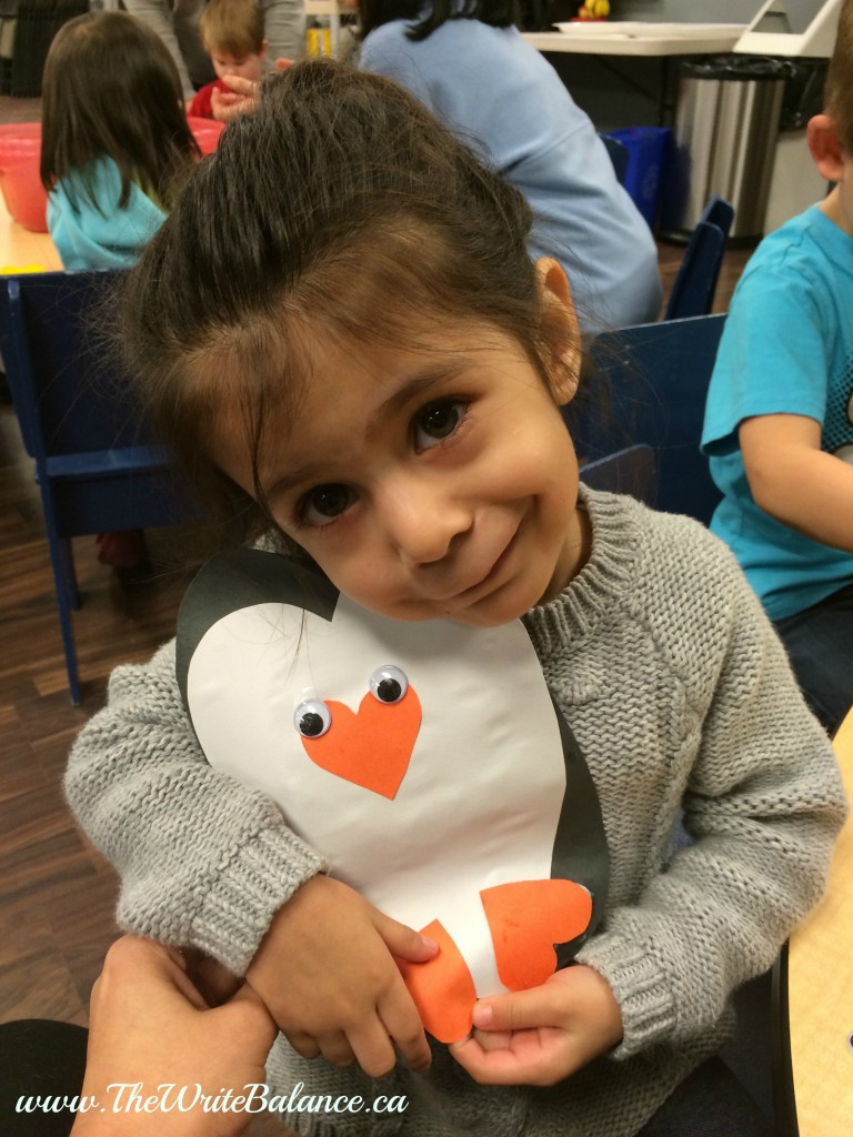 kyah with penguin craft