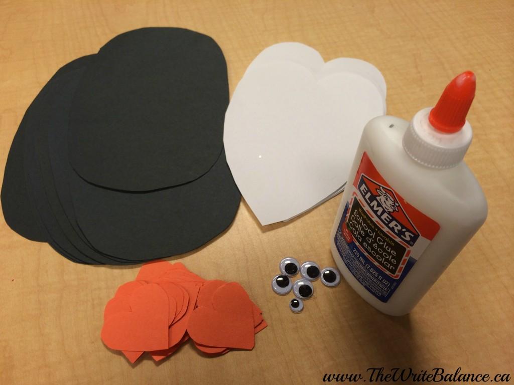 penguin crafts supplies