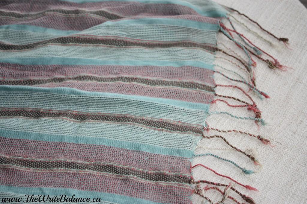 tassel scarf step 1