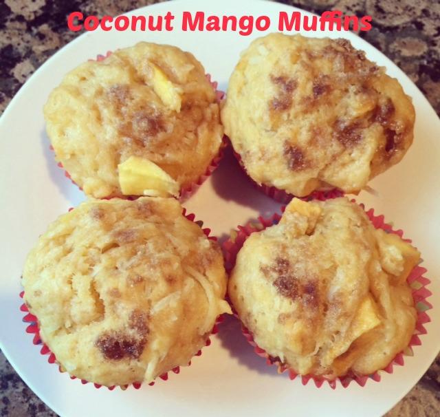 4 coconut mango muffins