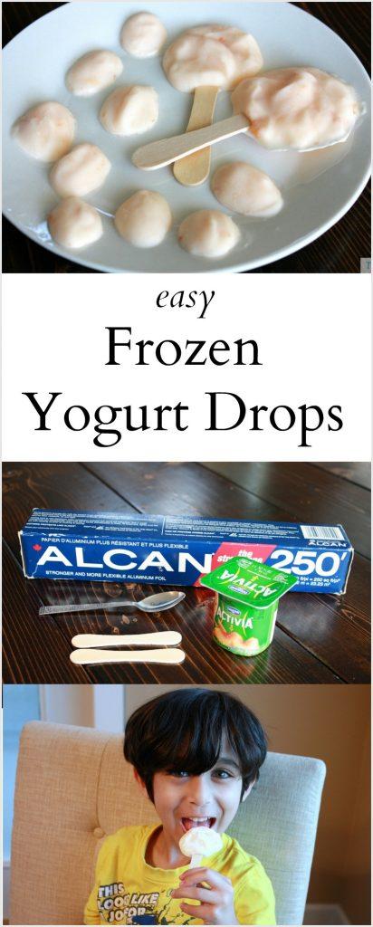 Easy Frozen Yogurt Drops