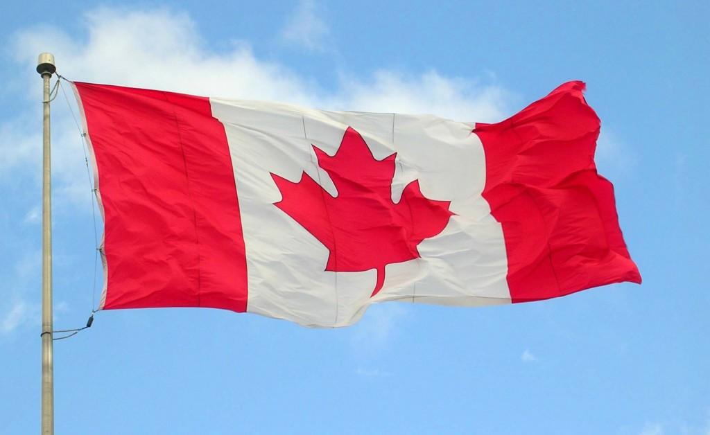 Canada_flag in sky