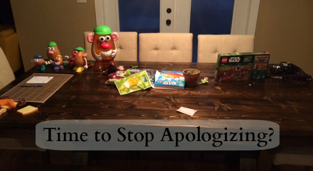 time to stop apologizing