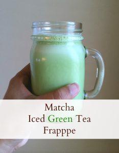 Matcha Iced Green Tea Frappe