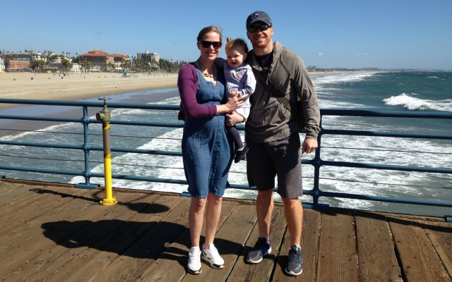 Travis Lulay family at the beach