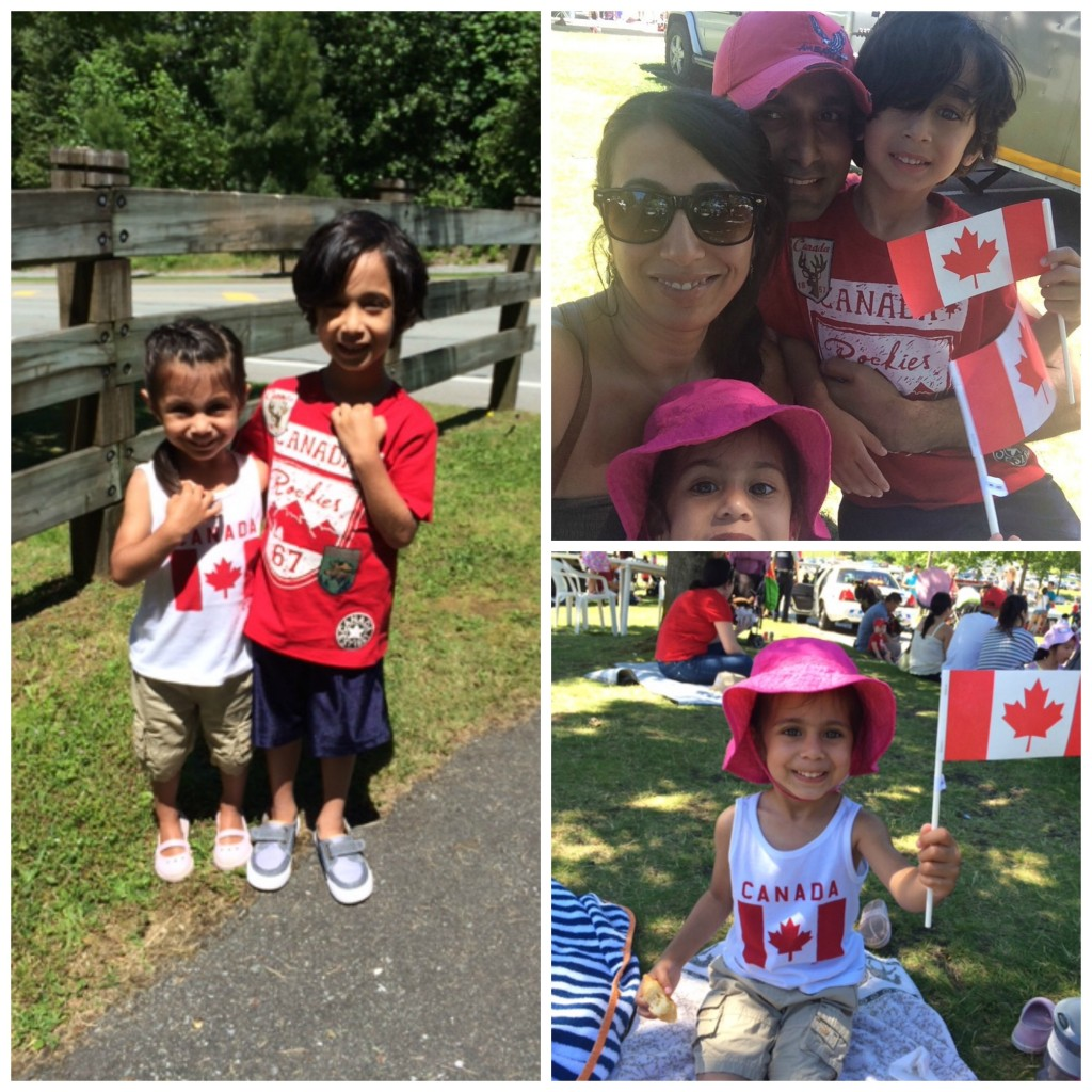 canada day collage