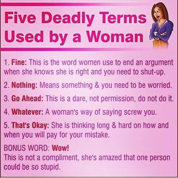 5 deadly terms used by women