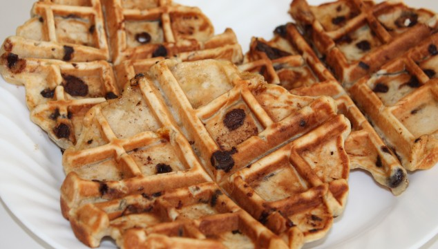 Overripe Banana Recipes - banana chocolate waffles