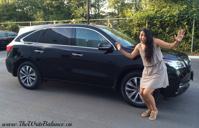 Me trying to recreate the excitement of when we first realized we were getting another car!