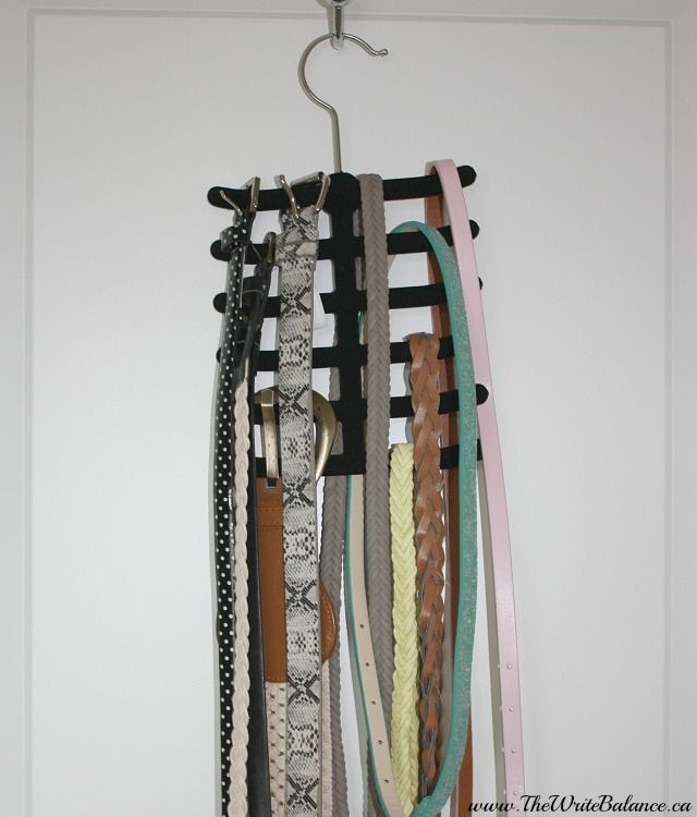 organize belts long