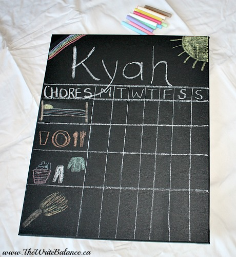 3 year old chore chart