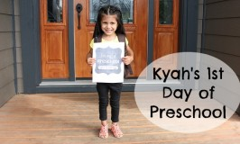 Kyah First Day of preschool feature