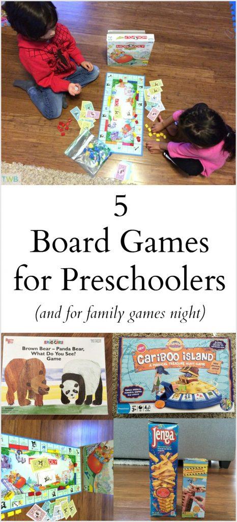 5 Board games for preschoolers