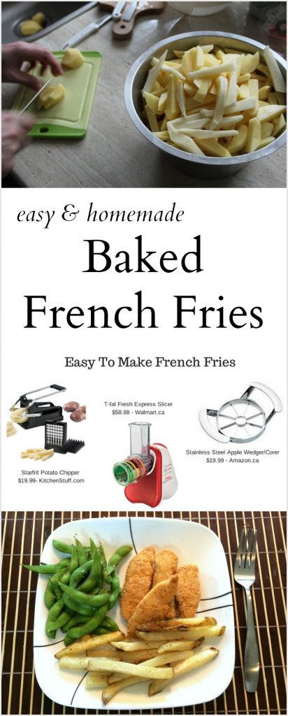 Easy Homemade Baked French Fries