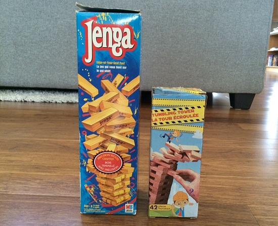 5 board games for preschoolers - Jenga