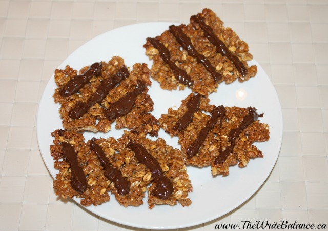 Rice snacks with chocolate