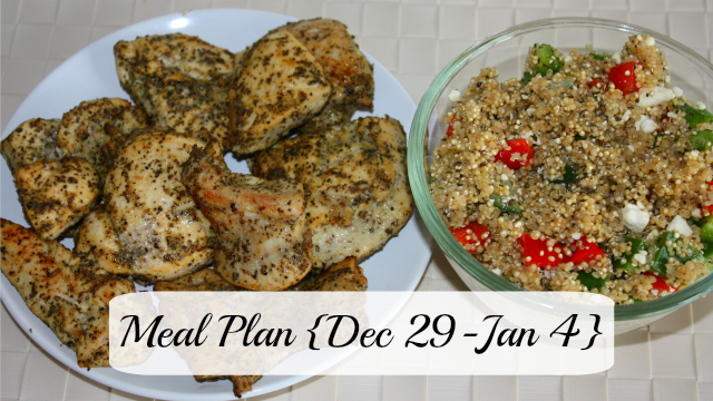 Meal plan with lemon garlic chicken