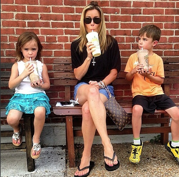 Trista Sutter with her kids