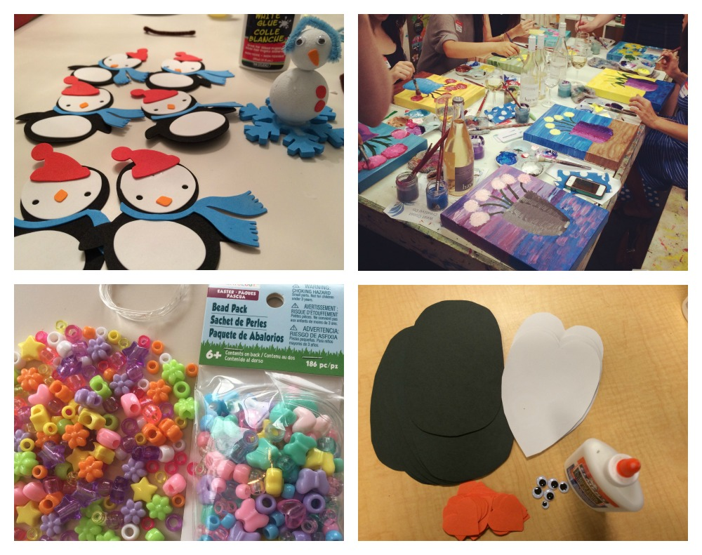 craft party collage