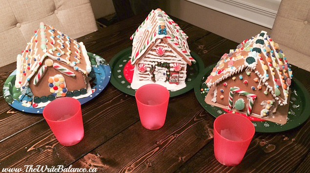 gingerbread house - 3 finalists