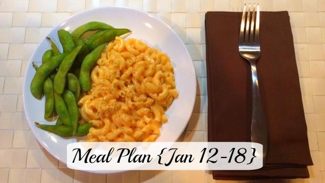 Meal plan Jan 12-18