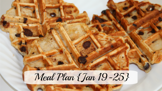 Meal plan Jan 19-25