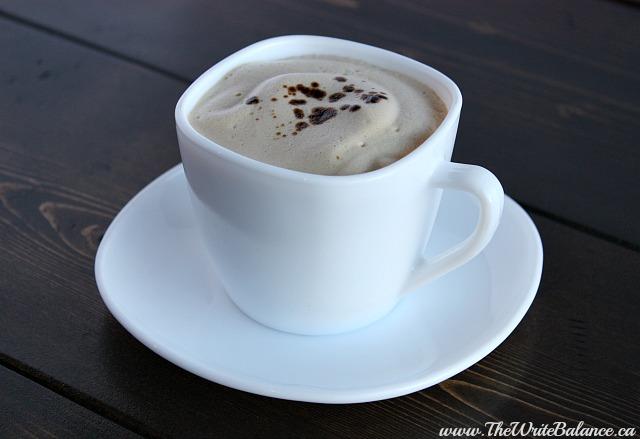 homemade cafe latte finished