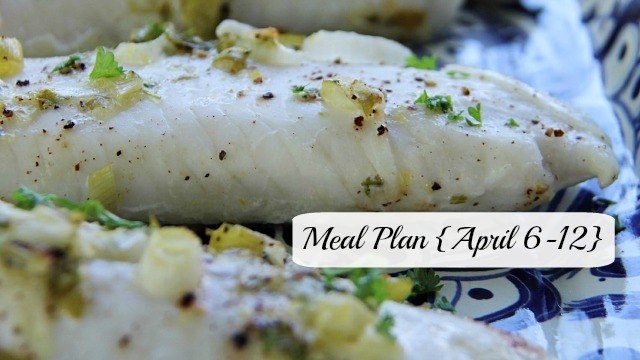 Meal Plan April 6-12