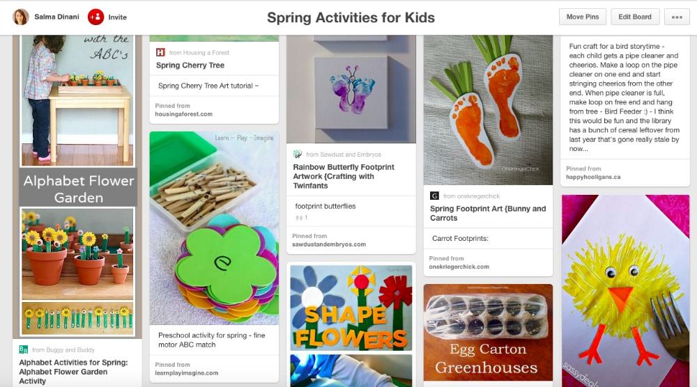 Spring Activities Pinterest Board